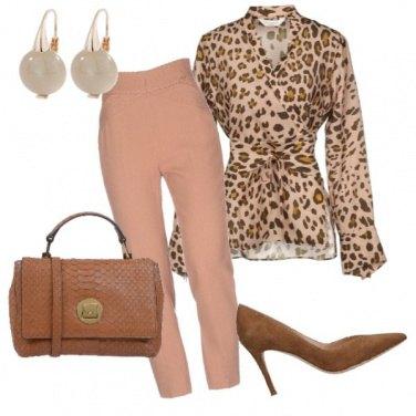 Outfit Animalier raffinato