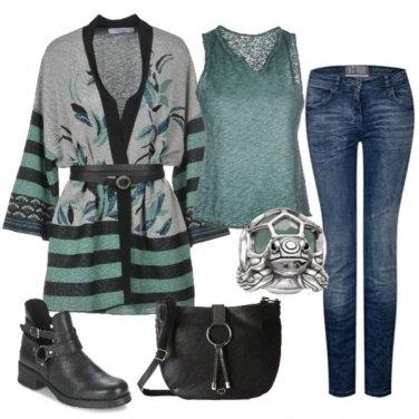 Outfit Verde acqua