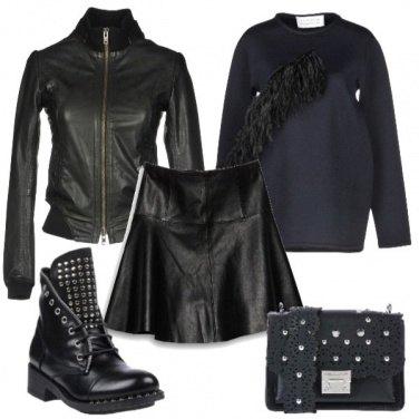 Outfit Borchie frange pelle