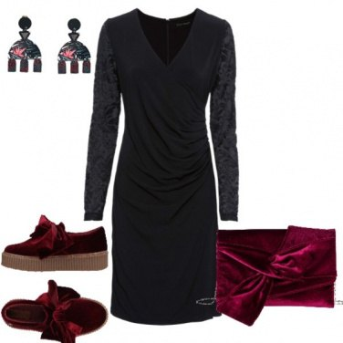 Outfit Rosso a sorpresa