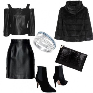 Outfit Rock, total black