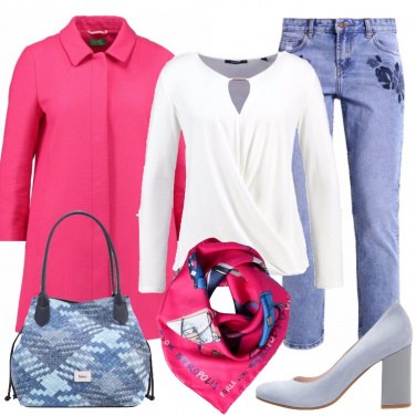 Outfit Jeans e colori allegri in ufficio