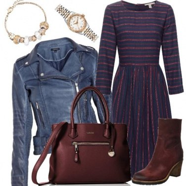 Outfit BB - Blue & Bordeaux