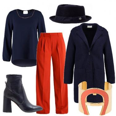Outfit In ufficio col cappello