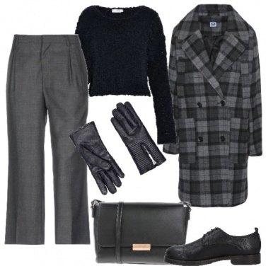 Outfit Quadri e guanti