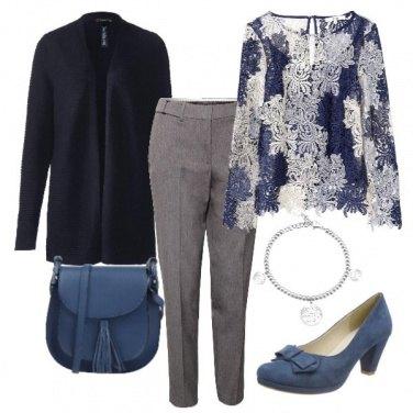 Outfit Grigio, azzurro e blu