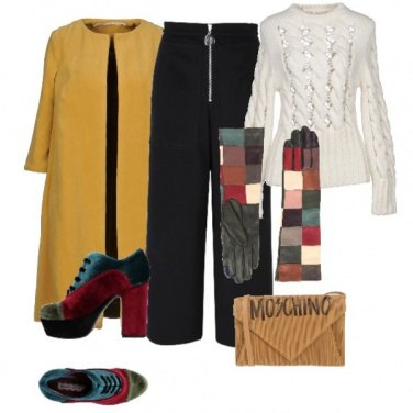 Outfit I guanti patchwork