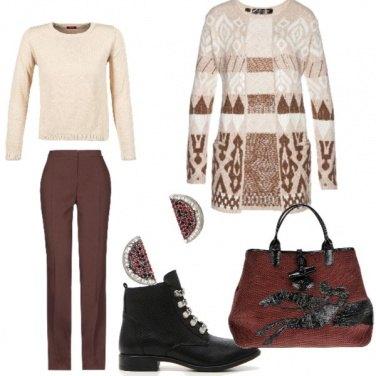 Outfit Caffè con stile universitario