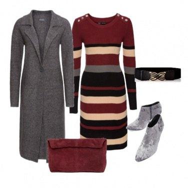 Outfit Tronchetti in velluto e abito morbido
