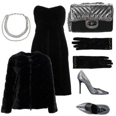 Outfit Velluto nero e argento