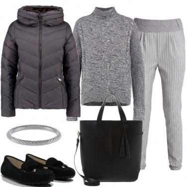 Outfit Pantaloni gessati