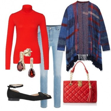 Outfit Rosso & Scozzese
