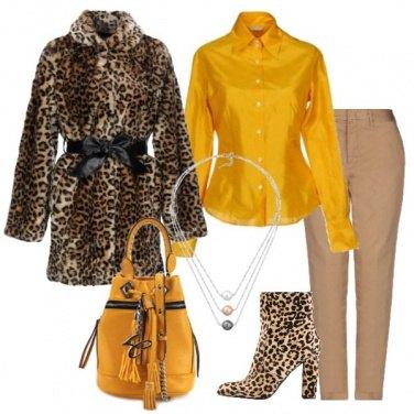 Outfit Animalier e giallo