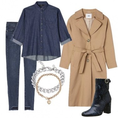 Outfit Jeans, gioielli e stivaletto animalier