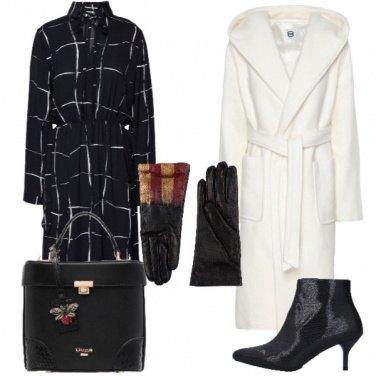 Outfit Vestito in fantasia a scacchi