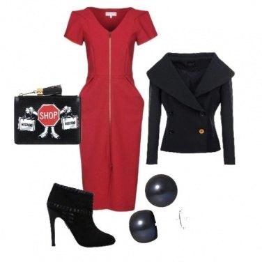 Outfit Passione rosso tubino