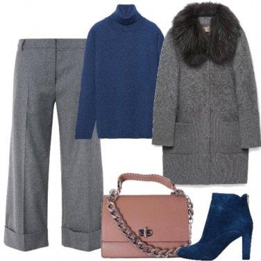 Outfit Maglia blu