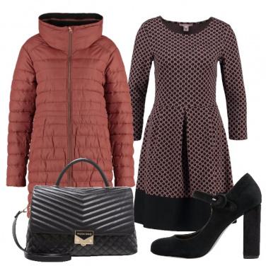 Outfit Vestito e piumino