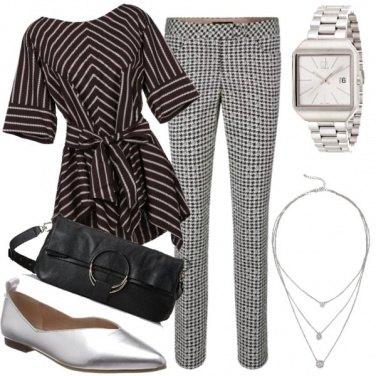 Outfit Geometrie e bagliori argentei