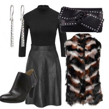 Outfit Pelle ed ecopelliccia