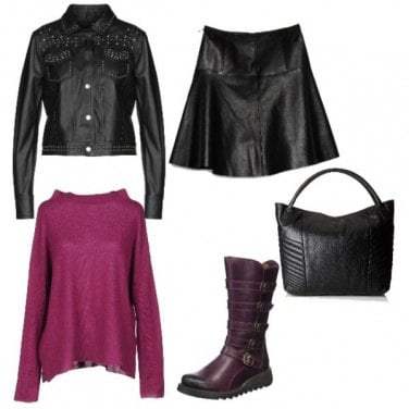 Outfit Mini in pelle