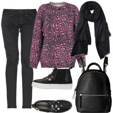 Outfit Pullover animalier