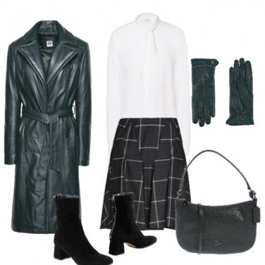 Outfit Il trench di pelle
