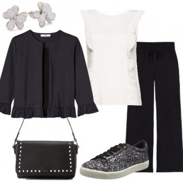 Outfit B&W total look a meno di 100€