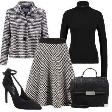 Outfit Coordinato in pied de poule