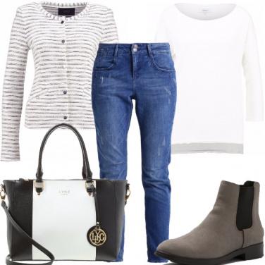Outfit In ufficio con il jeans