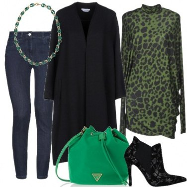 Outfit Maxi cappotto glamour