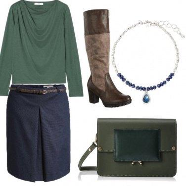 Outfit Blue e verde