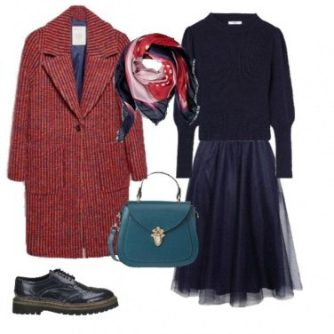 Outfit Rosso & Blu