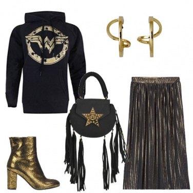 Outfit Oro e wonderwoman
