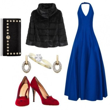 Outfit Sexy, scarpette rosse