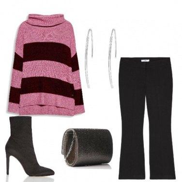 Outfit Il maglione a righe