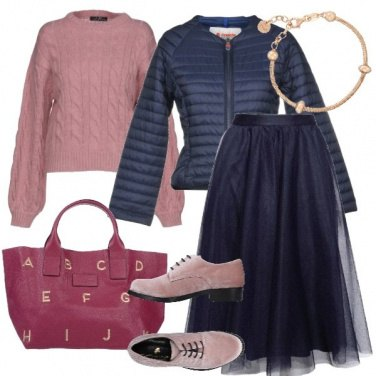 Outfit Tulle e piumino