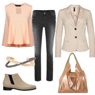 Outfit Color pesca