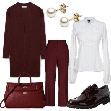 Outfit Perle fiocchi e cashmere