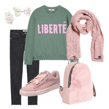 Outfit Libertà in rosa