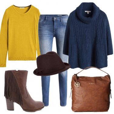 Outfit Frange, mantella e cappello
