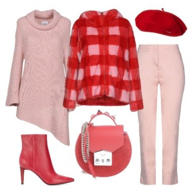 Outfit Asimmetrie bicolori
