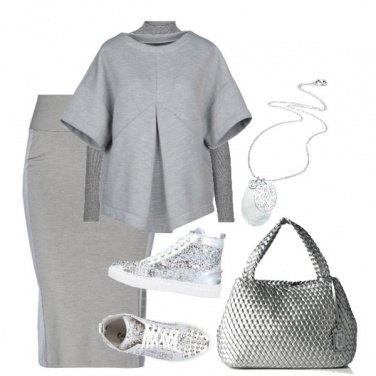 Outfit Sportiva in grigio