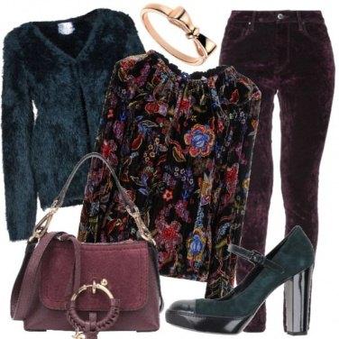 Outfit Camoscio, ciniglia e velluto