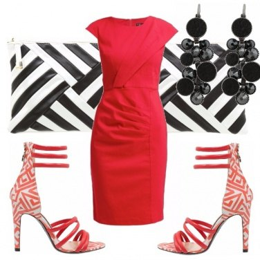 Outfit Red geometry