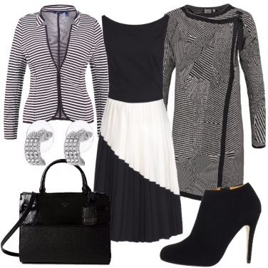 Outfit Geometrie in bianco e nero