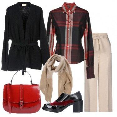 Outfit Camicia scozzese stringata trendy