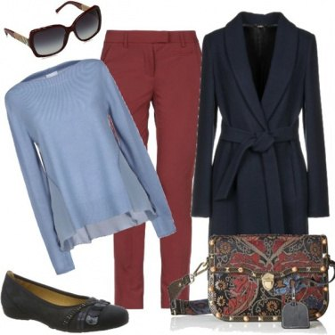 Outfit Borsetta damascata e ballerine