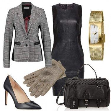Outfit Trame fashion per borsa e guanti