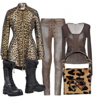 Outfit Animalier e pelle